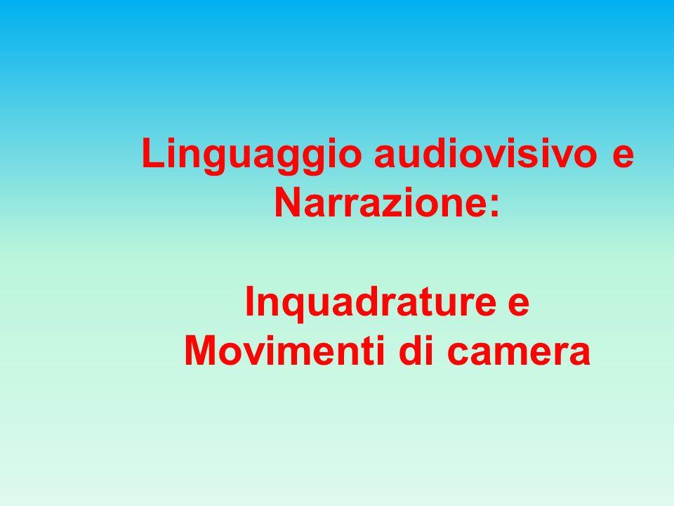Linguaggio audiovisivo e Narrazione: Inquadrature e Movimenti di camera