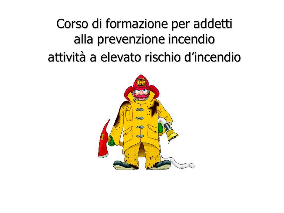 Corso di formazione per addetti alla prevenzione incendio attività a elevato rischio d'incendio