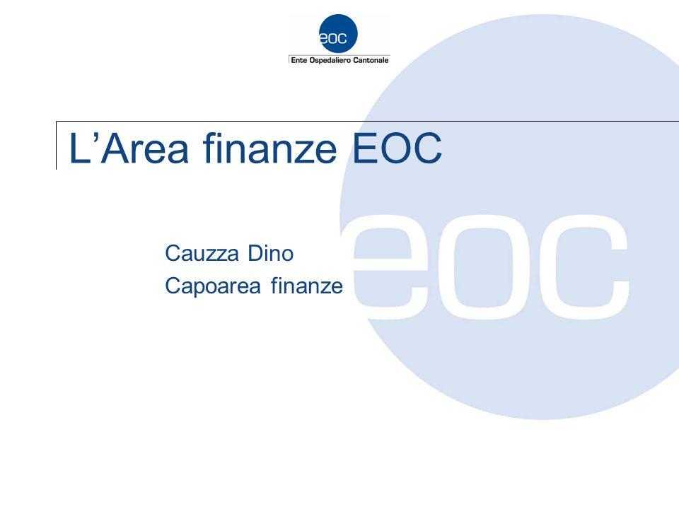 L'Area finanze EOC Cauzza Dino Capoarea finanze