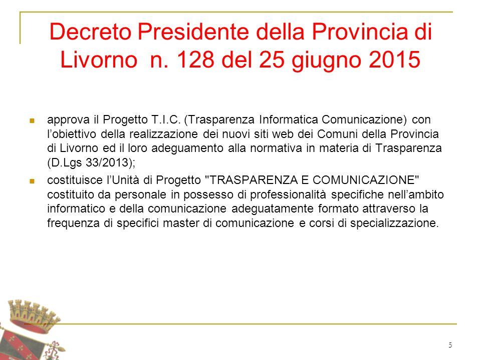 5 Decreto Presidente della Provincia di Livorno n.