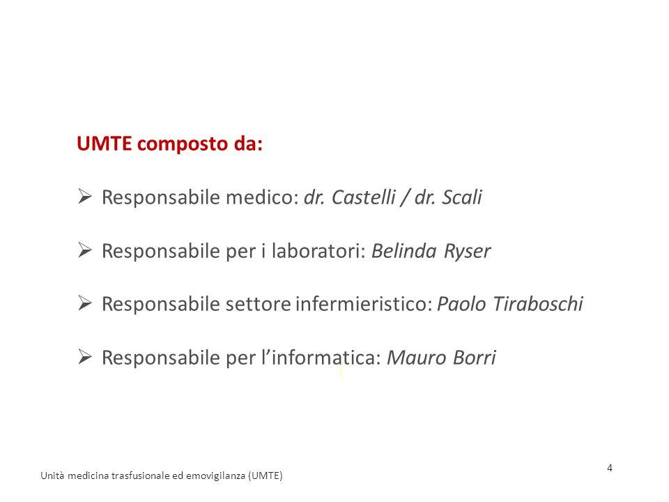 ( UMTE composto da:  Responsabile medico: dr.Castelli / dr.