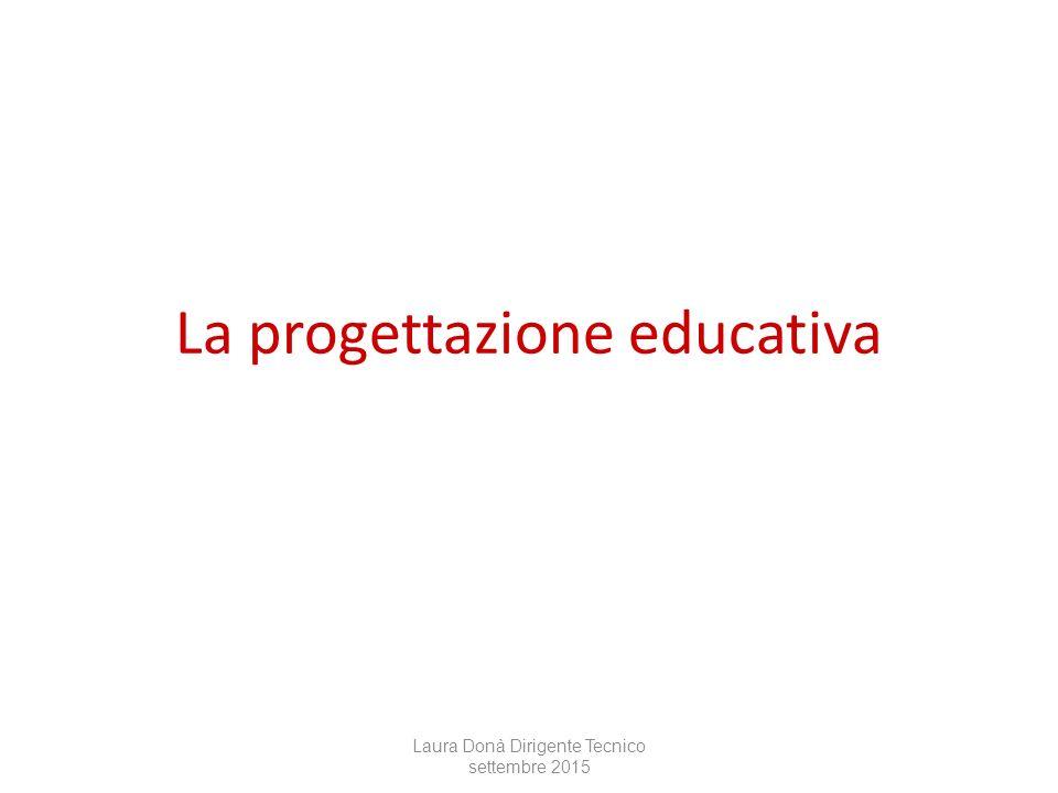 La progettazione educativa Laura Donà Dirigente Tecnico settembre 2015