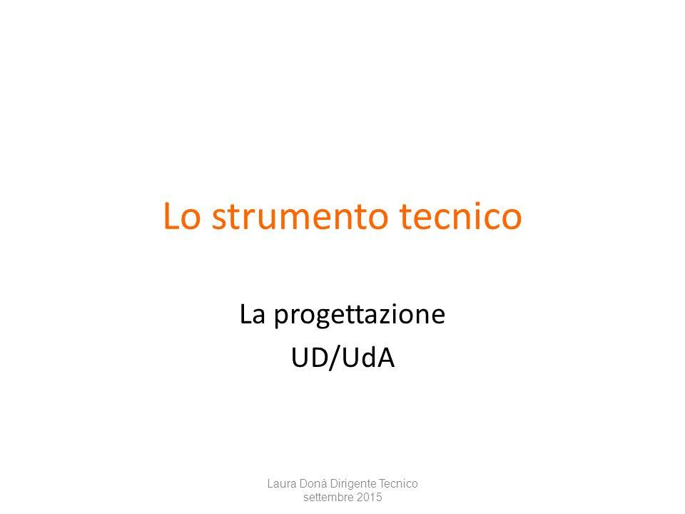 Lo strumento tecnico La progettazione UD/UdA Laura Donà Dirigente Tecnico settembre 2015