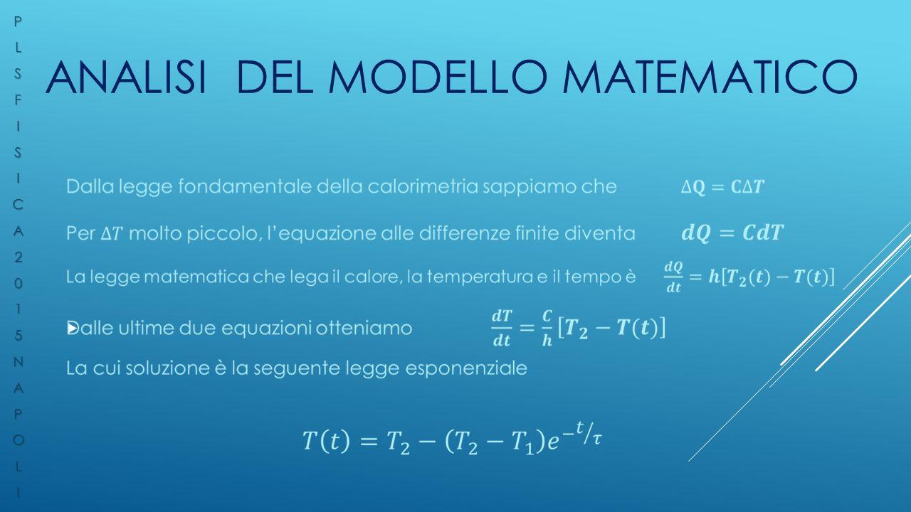 ANALISI DEL MODELLO MATEMATICO  PLSFISICA2015NAPOLI