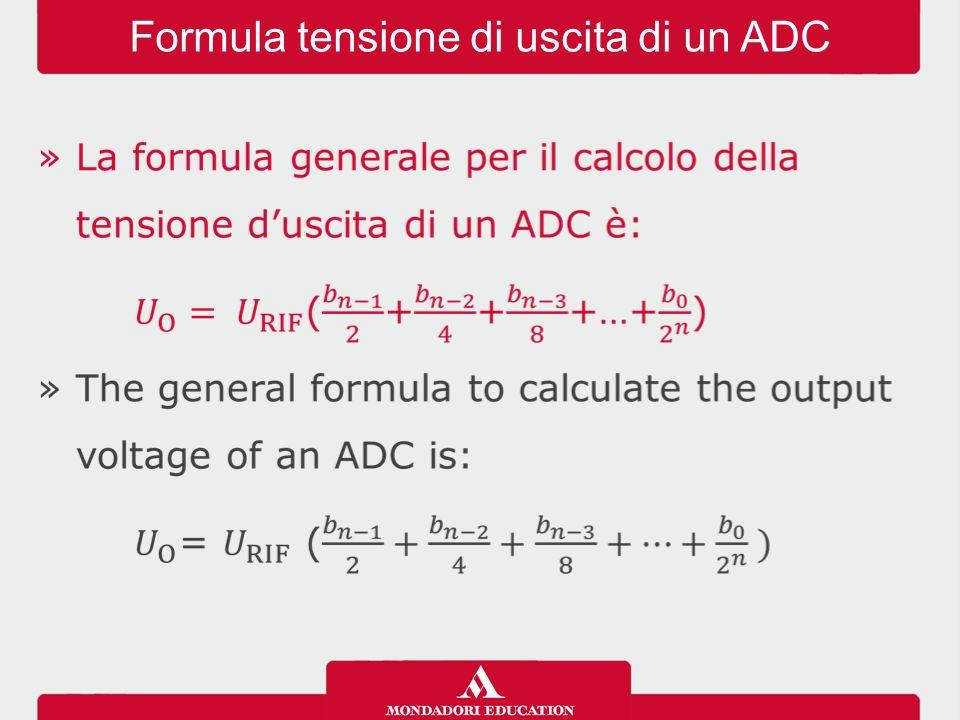 Formula tensione di uscita di un ADC