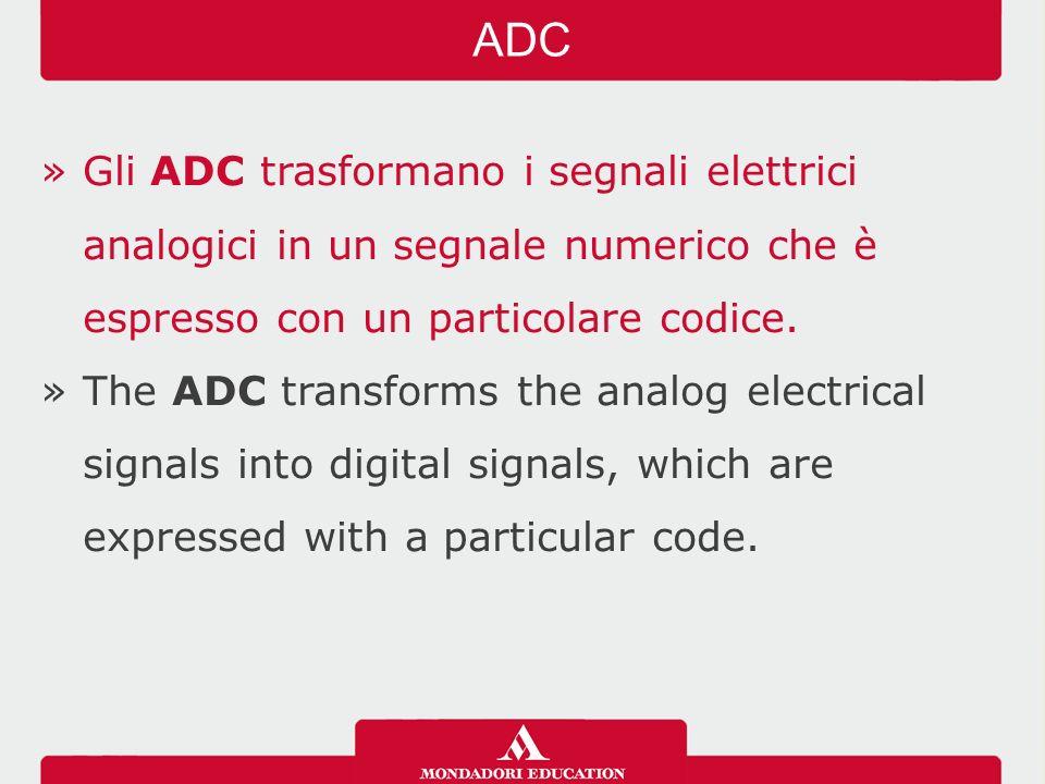 »Gli ADC trasformano i segnali elettrici analogici in un segnale numerico che è espresso con un particolare codice.