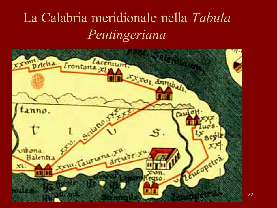 22 La Calabria meridionale nella Tabula Peutingeriana