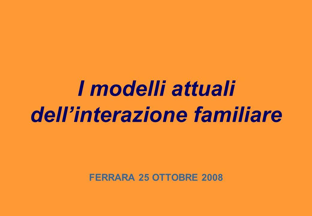 I modelli attuali dell'interazione familiare FERRARA 25 OTTOBRE 2008