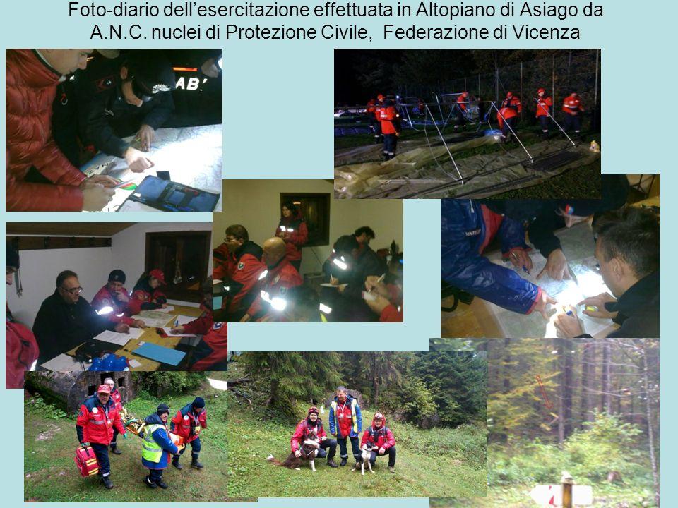 Foto-diario dell'esercitazione effettuata in Altopiano di Asiago da A.N.C.