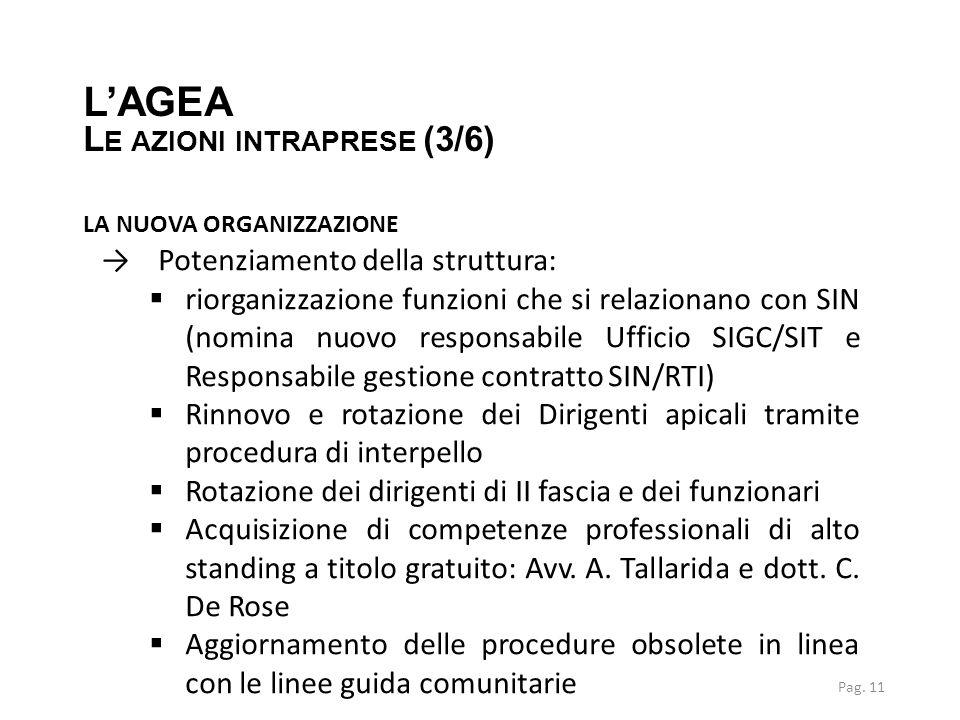 LA NUOVA ORGANIZZAZIONE →Potenziamento della struttura:  riorganizzazione funzioni che si relazionano con SIN (nomina nuovo responsabile Ufficio SIGC