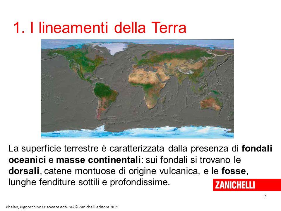 1. I lineamenti della Terra 5 Phelan, Pignocchino Le scienze naturali © Zanichelli editore 2015 La superficie terrestre è caratterizzata dalla presenz