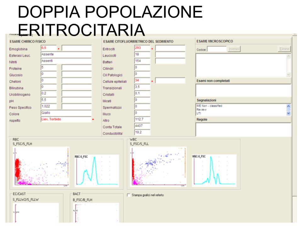 DOPPIA POPOLAZIONE ERITROCITARIA