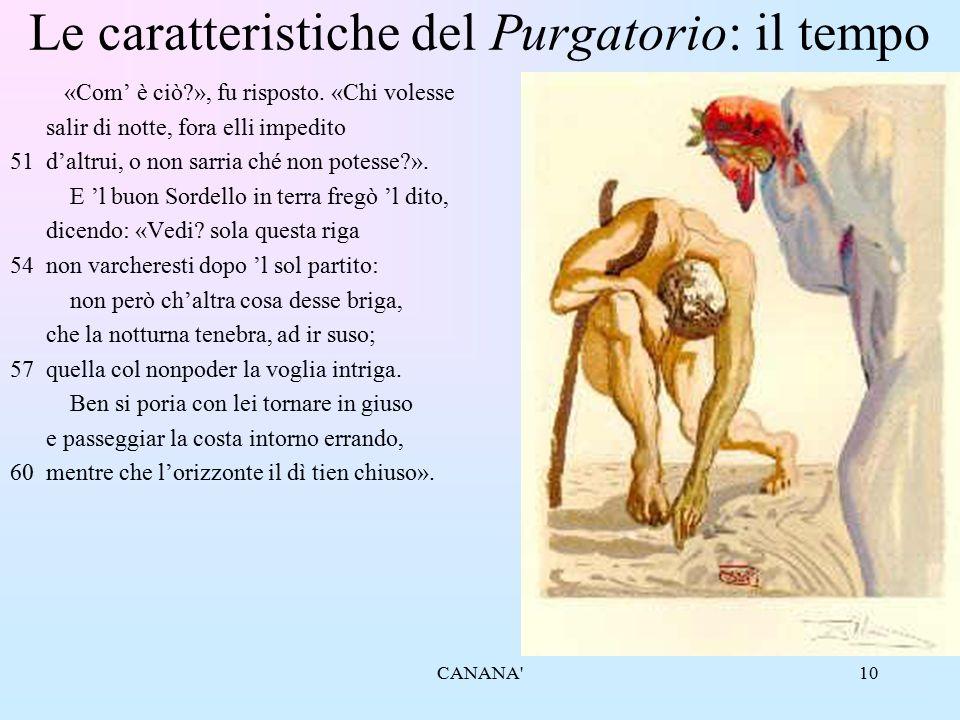 10 Le caratteristiche del Purgatorio: il tempo «Com' è ciò?», fu risposto. «Chi volesse salir di notte, fora elli impedito 51d'altrui, o non sarria ch