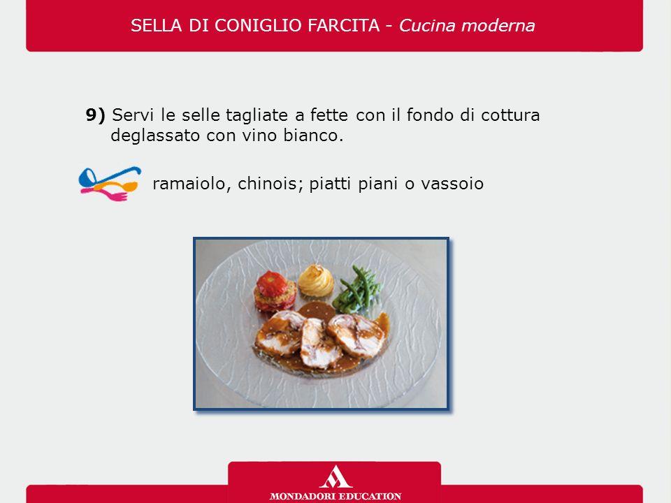 9) Servi le selle tagliate a fette con il fondo di cottura deglassato con vino bianco.
