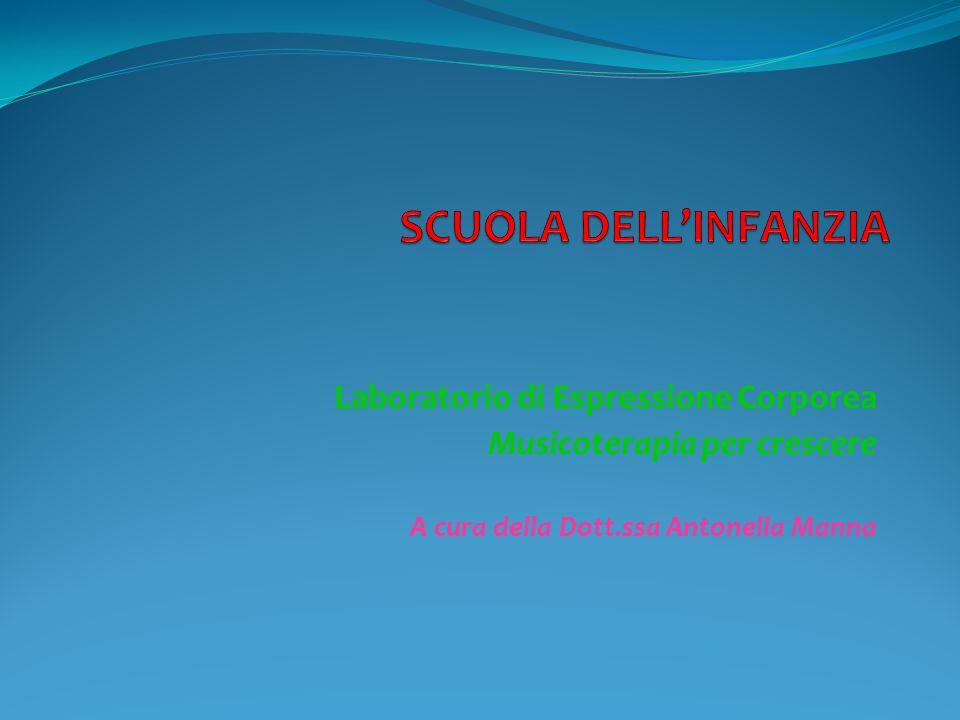 Laboratorio di Espressione Corporea Musicoterapia per crescere A cura della Dott.ssa Antonella Manna