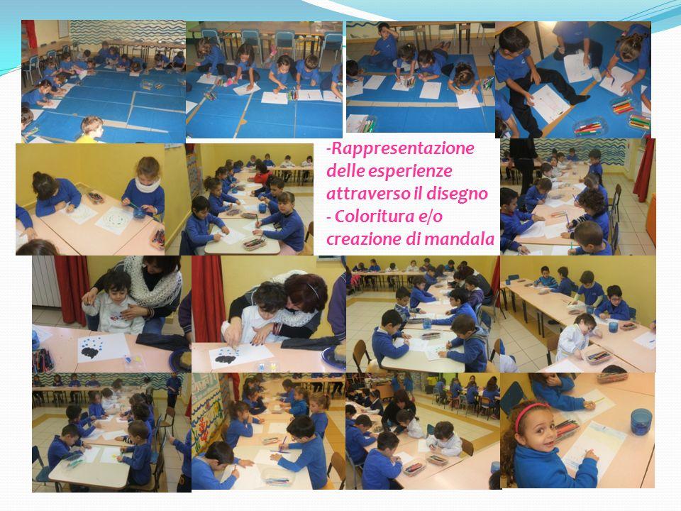 -Rappresentazione delle esperienze attraverso il disegno - Coloritura e/o creazione di mandala