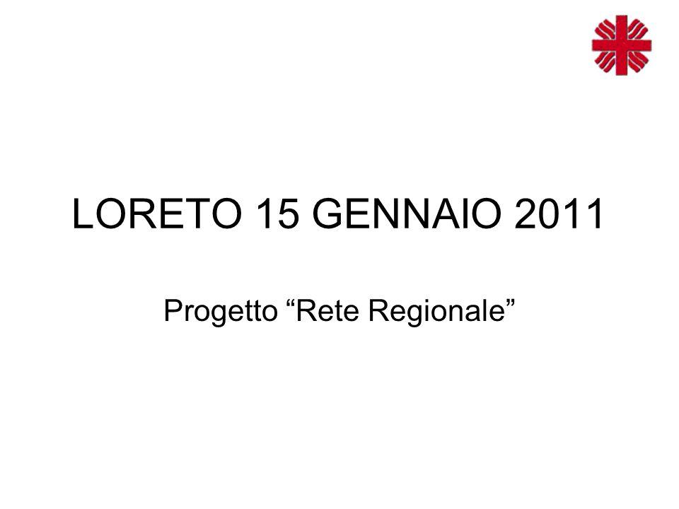 LORETO 15 GENNAIO 2011 Progetto Rete Regionale