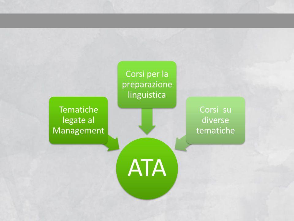 ATA Tematiche legate al Management Corsi per la preparazione linguistica Corsi su diverse tematiche