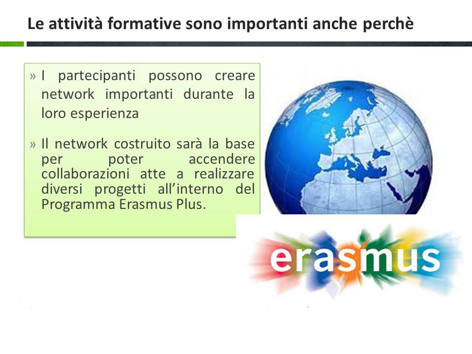 » I partecipanti possono creare network importanti durante la loro esperienza » Il network costruito sarà la base per poter accendere collaborazioni a