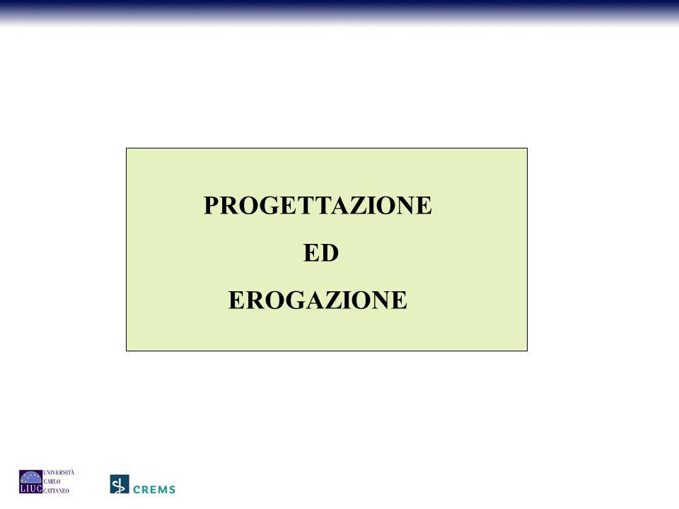 PROGETTAZIONE ED EROGAZIONE
