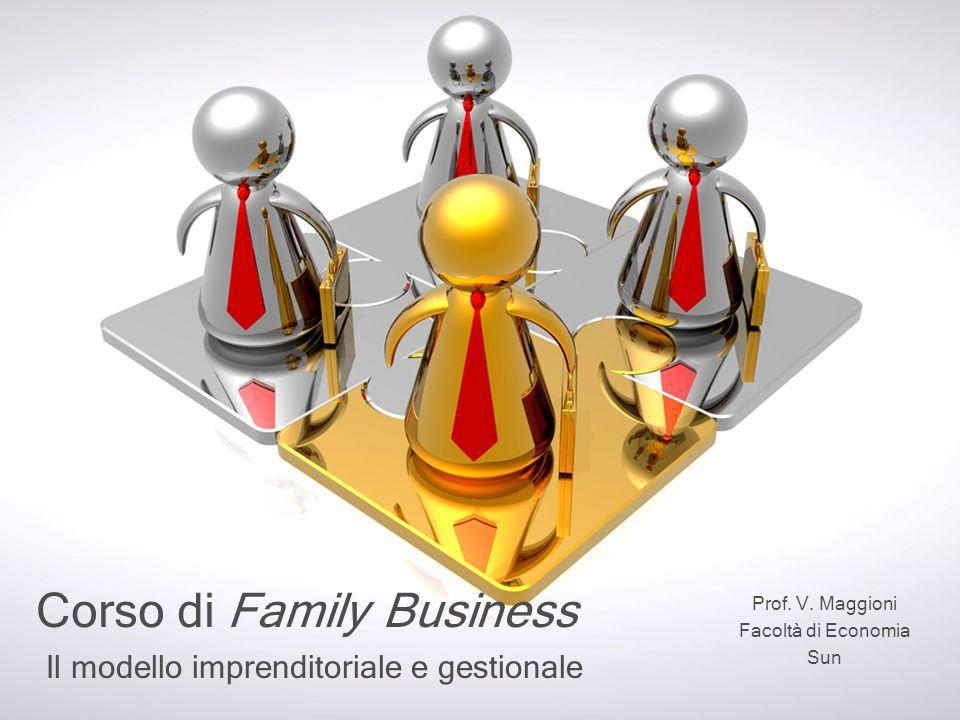 Il modello imprenditoriale e gestionale Corso di Family Business Prof. V. Maggioni Facoltà di Economia Sun