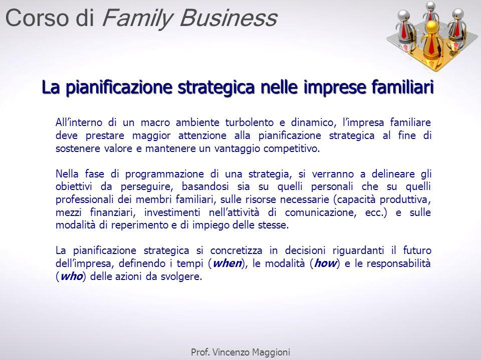 La pianificazione strategica nelle imprese familiari All'interno di un macro ambiente turbolento e dinamico, l'impresa familiare deve prestare maggior