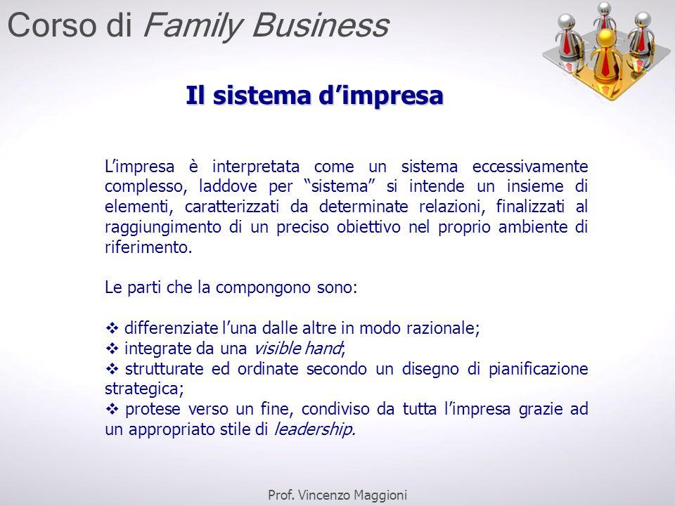 """Il sistema d'impresa L'impresa è interpretata come un sistema eccessivamente complesso, laddove per """"sistema"""" si intende un insieme di elementi, carat"""