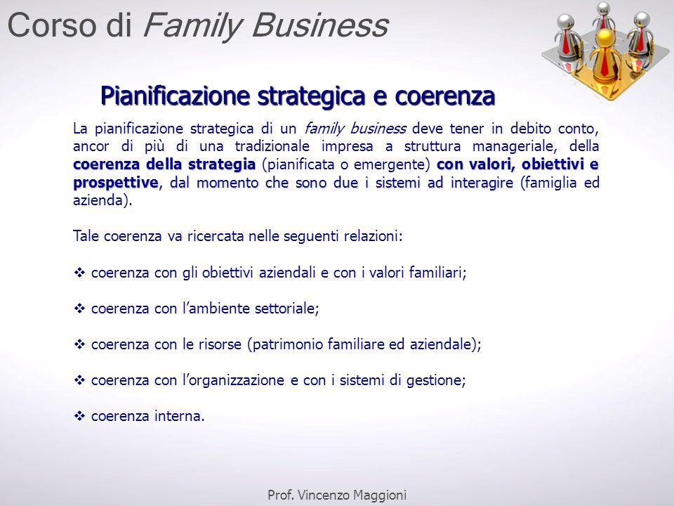 Pianificazione strategica e coerenza coerenza della strategiacon valori, obiettivi e prospettive, dal momento che sono due i sistemi ad interagire La
