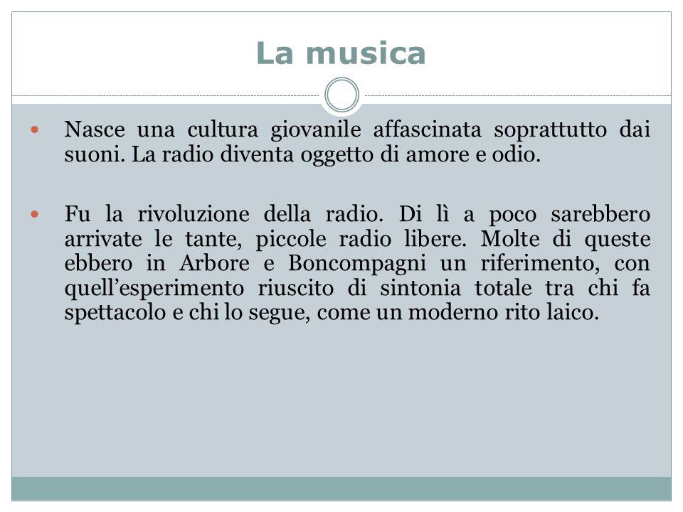 La musica Nasce una cultura giovanile affascinata soprattutto dai suoni.