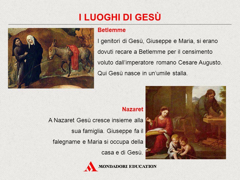 Betlemme I genitori di Gesù, Giuseppe e Maria, si erano dovuti recare a Betlemme per il censimento voluto dall'imperatore romano Cesare Augusto. Qui G