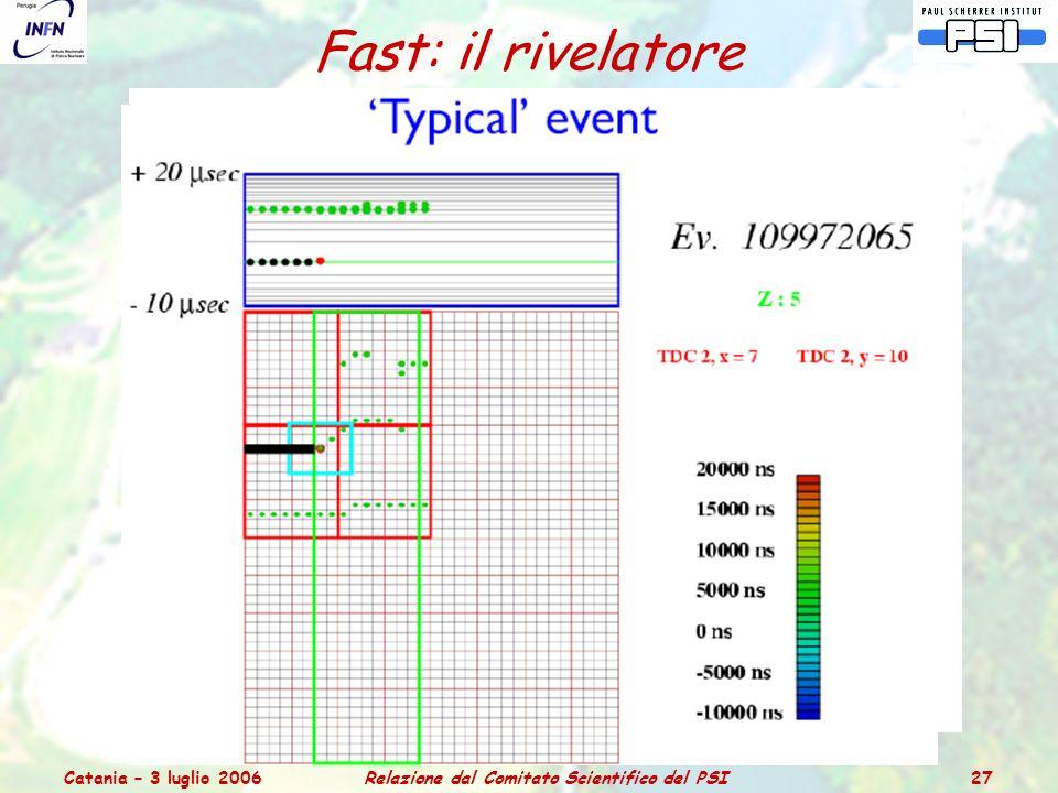 Catania – 3 luglio 2006Relazione dal Comitato Scientifico del PSI 27 Fast: il rivelatore
