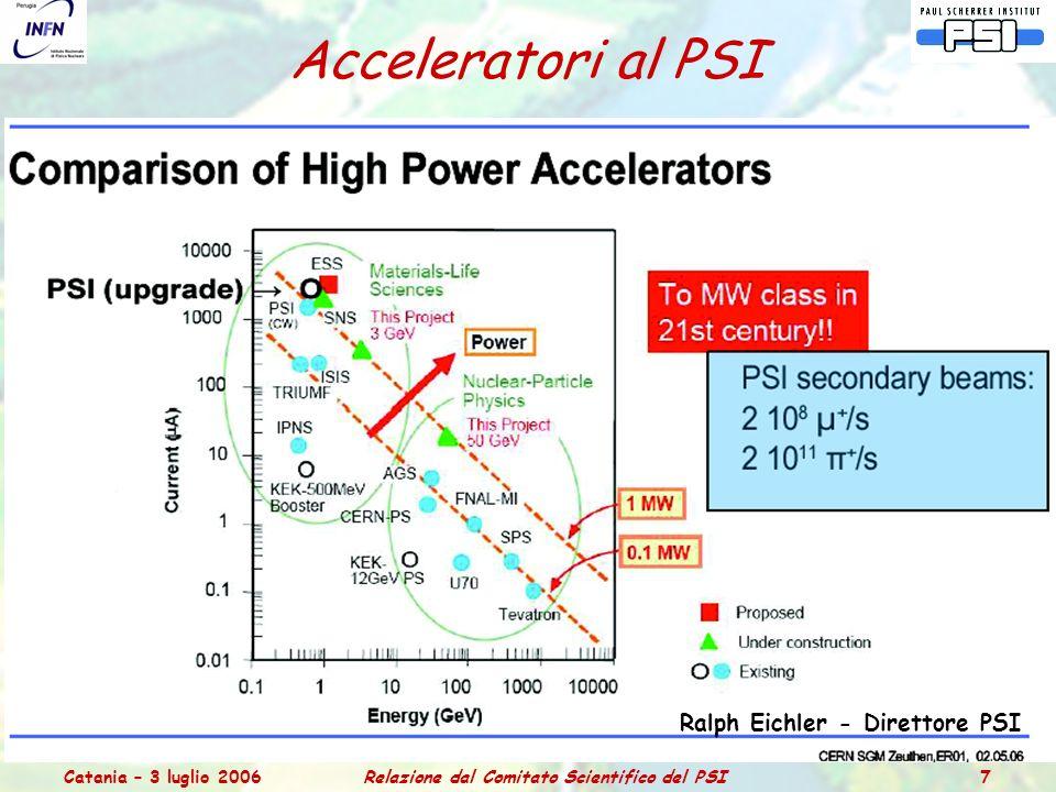 Catania – 3 luglio 2006Relazione dal Comitato Scientifico del PSI 38 spare