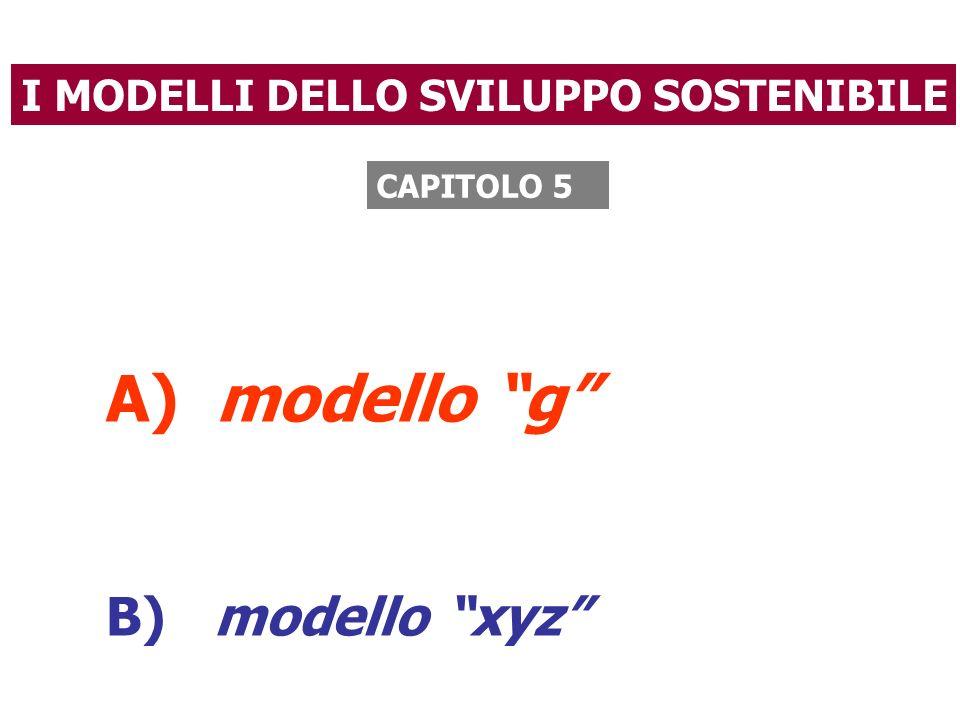 """I MODELLI DELLO SVILUPPO SOSTENIBILE A) modello """"g"""" B) modello """"xyz"""" CAPITOLO 5"""
