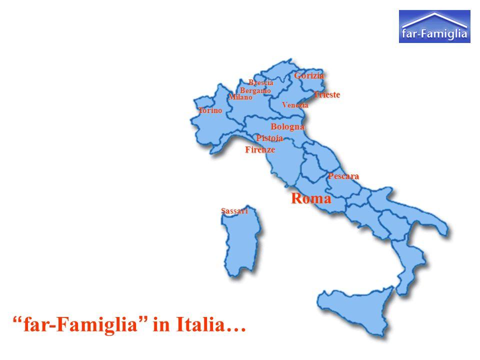 far-Famiglia in Italia… Brescia Venezia Milano Torino Roma Bologna Gorizia Bergamo Trieste Pescara Firenze Pistoia Sassari
