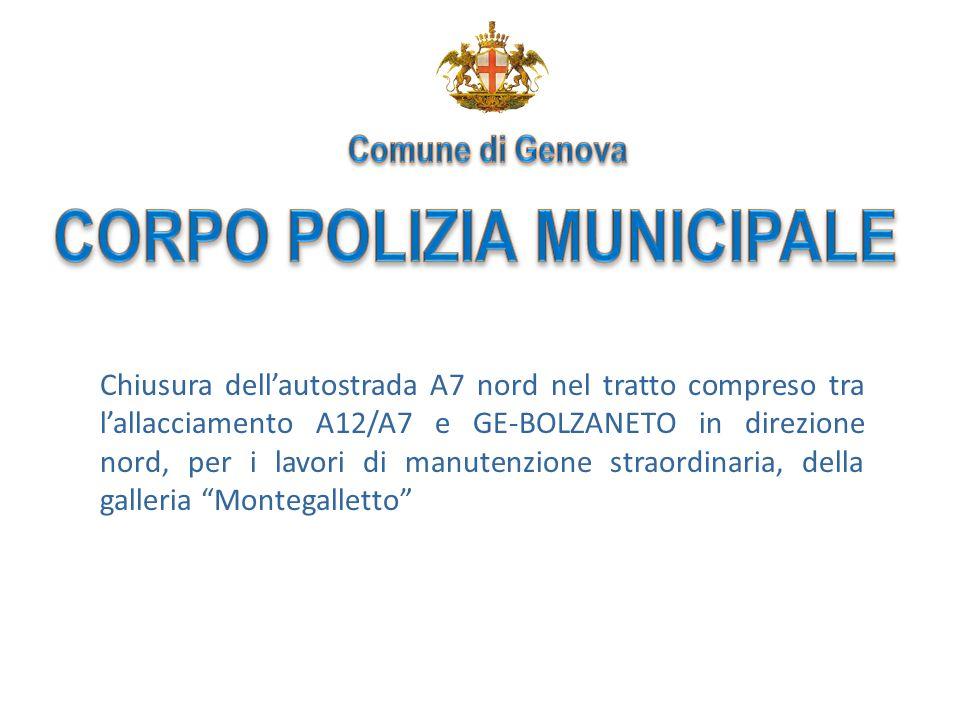 2 5 - 19 Agosto 2009 Chiusura galleria autostradale Montegalletto con conseguente interdizione del transito veicolare sulla A7 in direzione Nord tra i caselli di Ge-Ovest e Ge-Bolzaneto.