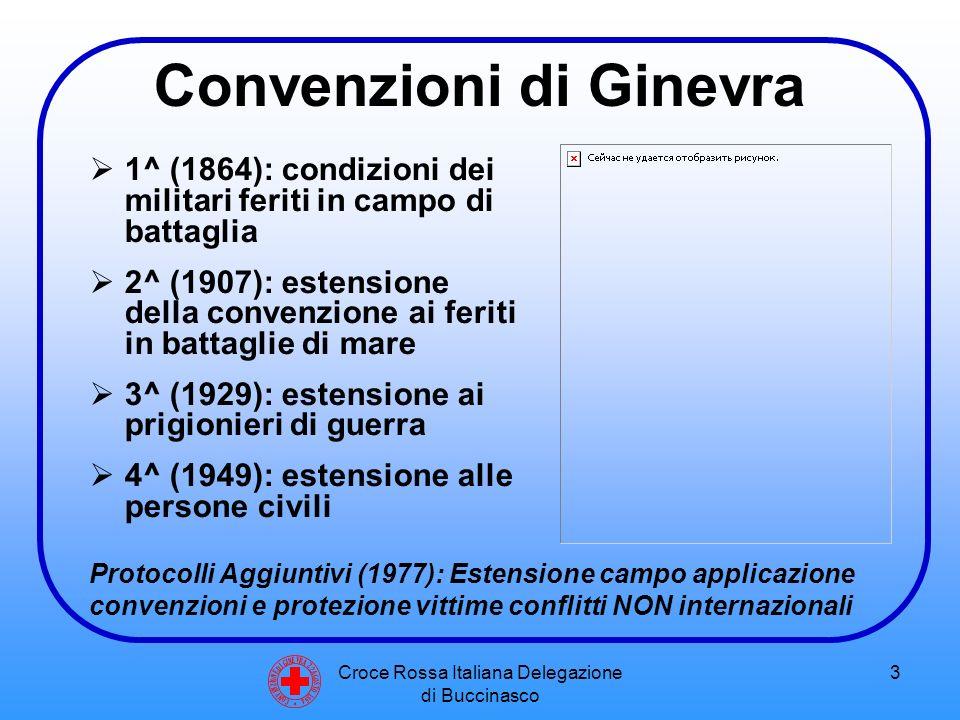 Croce Rossa Italiana Delegazione di Buccinasco 4 I sette principi della Croce Rossa  UMANITA'  IMPARZIALITA'  NEUTRALITA'  VOLONTARIETA'  INDIPENDENZA  UNITA'  UNIVERSALITA' C O N V E N Z I O N E D I G I N E V R A 2 2 A G O S T O 1 8 6 4
