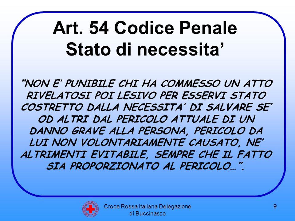Croce Rossa Italiana Delegazione di Buccinasco 10 PERICOLO IMMEDIATO DI VITA (ES.