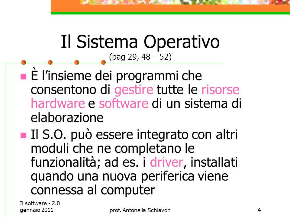 Il software - 2.0 gennaio 2011prof.