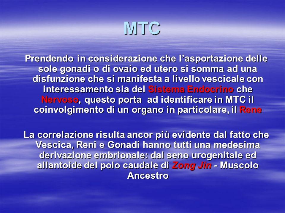 MTC Prendendo in considerazione che l'asportazione delle sole gonadi o di ovaio ed utero si somma ad una disfunzione che si manifesta a livello vescic