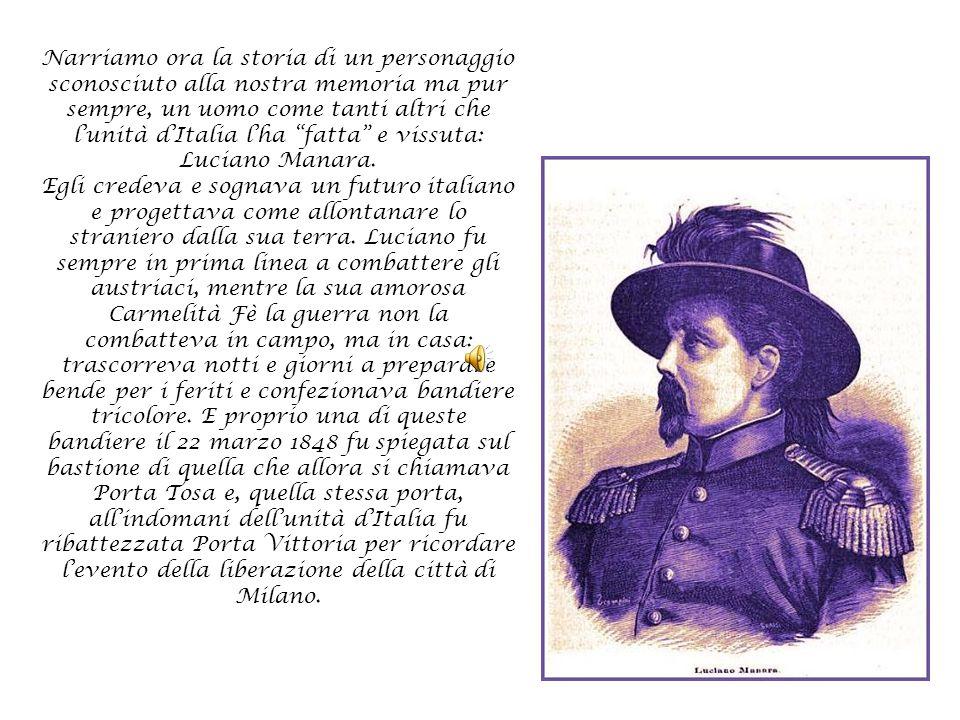 """Narriamo ora la storia di un personaggio sconosciuto alla nostra memoria ma pur sempre, un uomo come tanti altri che l'unità d'Italia l'ha """"fatta"""" e v"""