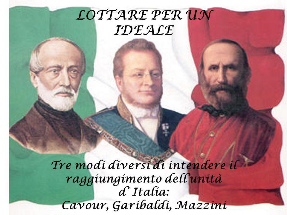 Il conte Camillo Benso di Cavour rappresenta la figura dell'intellettuale liberale moderato.