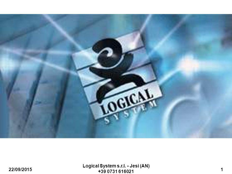 22/09/2015 Logical System s.r.l. - Jesi (AN) +39 0731 616021 32 Costi Generali (2/2)