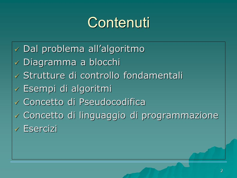 3 Problema e algoritmo ● Problema ● Il nostro obiettivo è risolvere un problema ● Algoritmo ● E' il nostro strumento per risolvere un problema