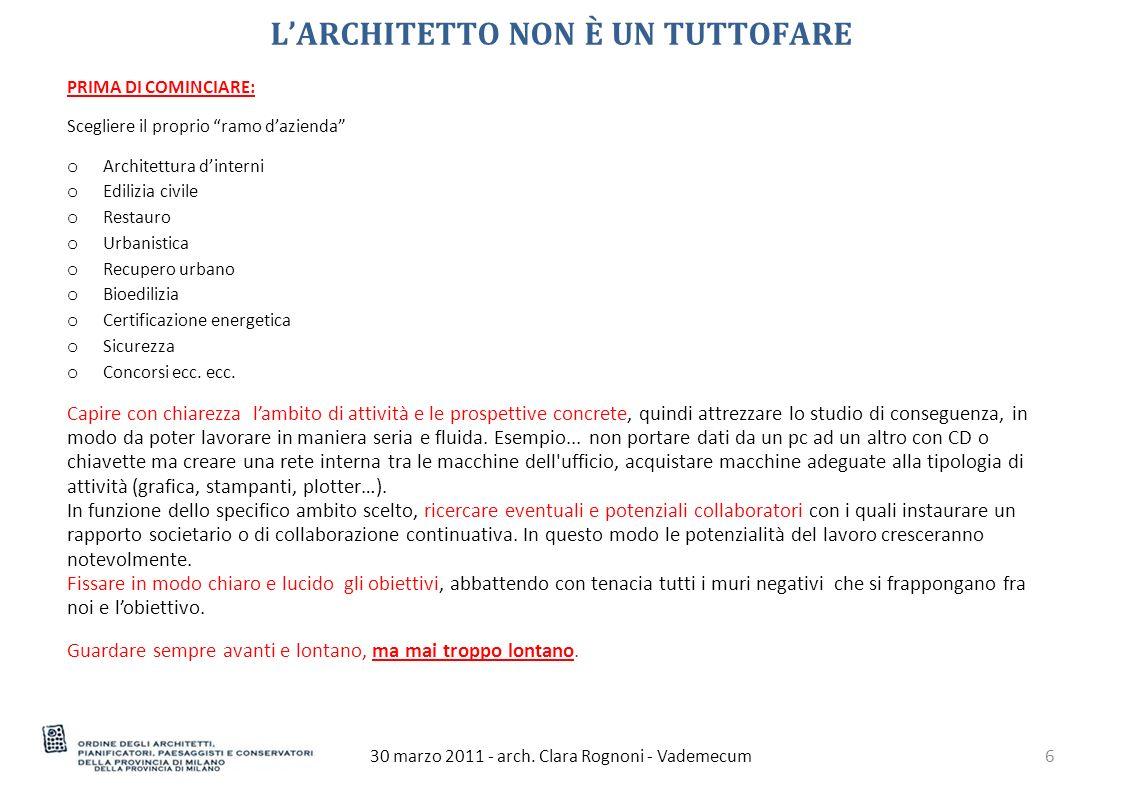 PROTOCOLLI PRESTAZIONALI 30 marzo 2011 - arch. Clara Rognoni - Vademecum17