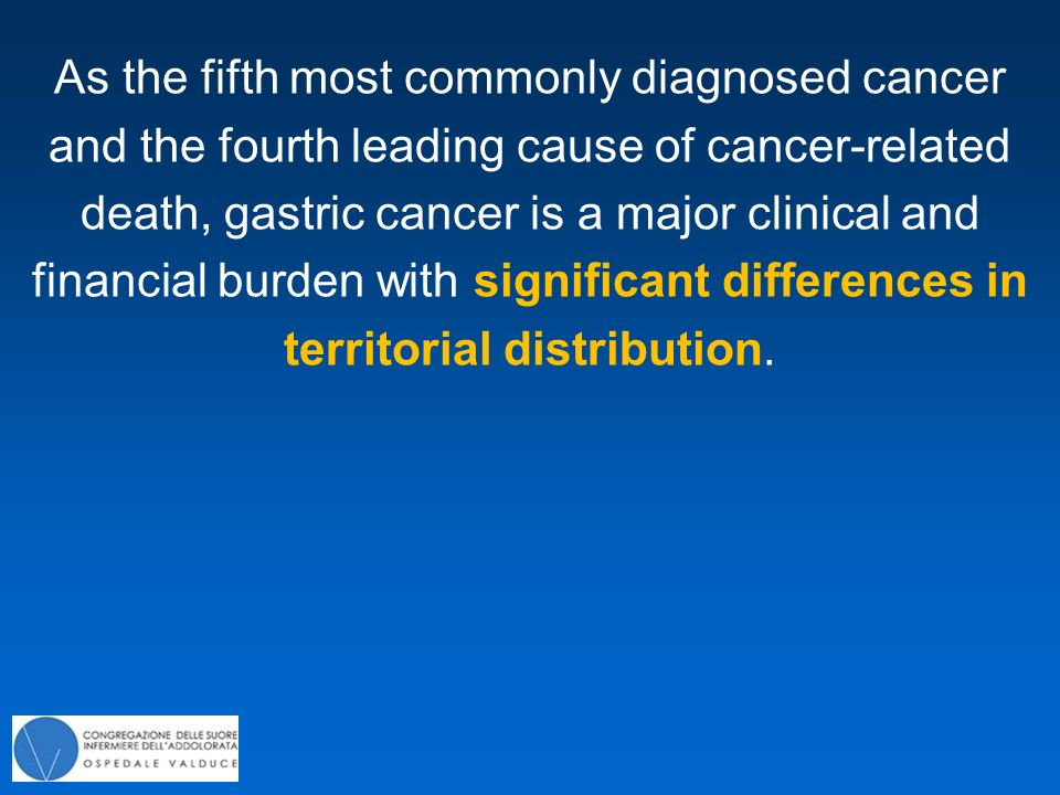 As the fifth most commonly diagnosed cancer and the fourth leading cause of cancer-related death, gastric cancer is a major clinical and financial bur