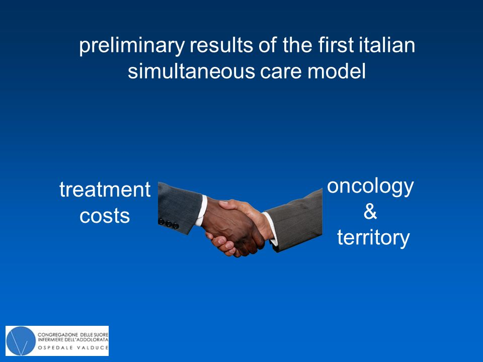 preliminary results of the first italian simultaneous care model oncology & territory treatment costs