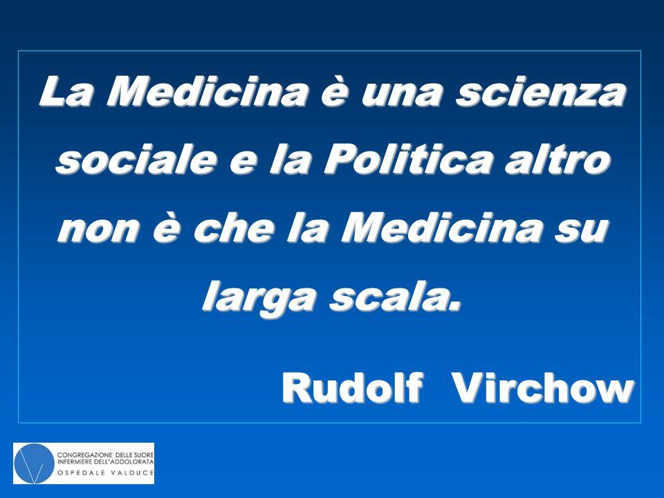 La Medicina è una scienza sociale e la Politica altro non è che la Medicina su larga scala.