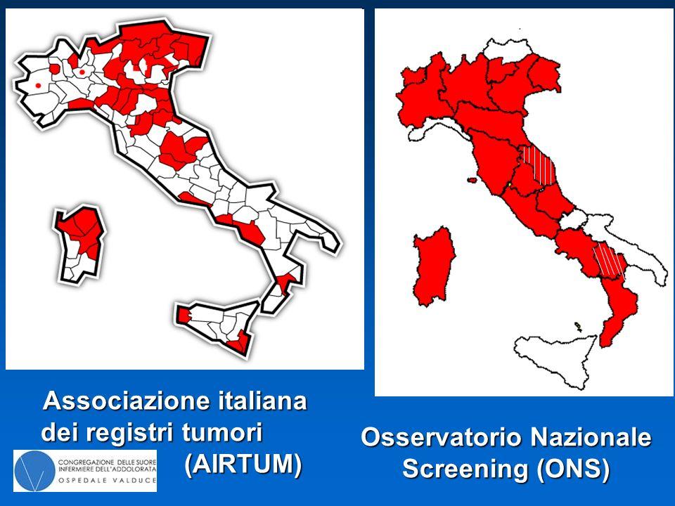 Associazione italiana dei registri tumori (AIRTUM) Osservatorio Nazionale Screening (ONS)