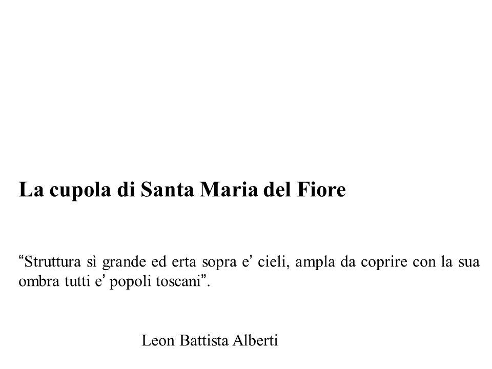 """La cupola di Santa Maria del Fiore """" Struttura sì grande ed erta sopra e ' cieli, ampla da coprire con la sua ombra tutti e ' popoli toscani """". Leon B"""