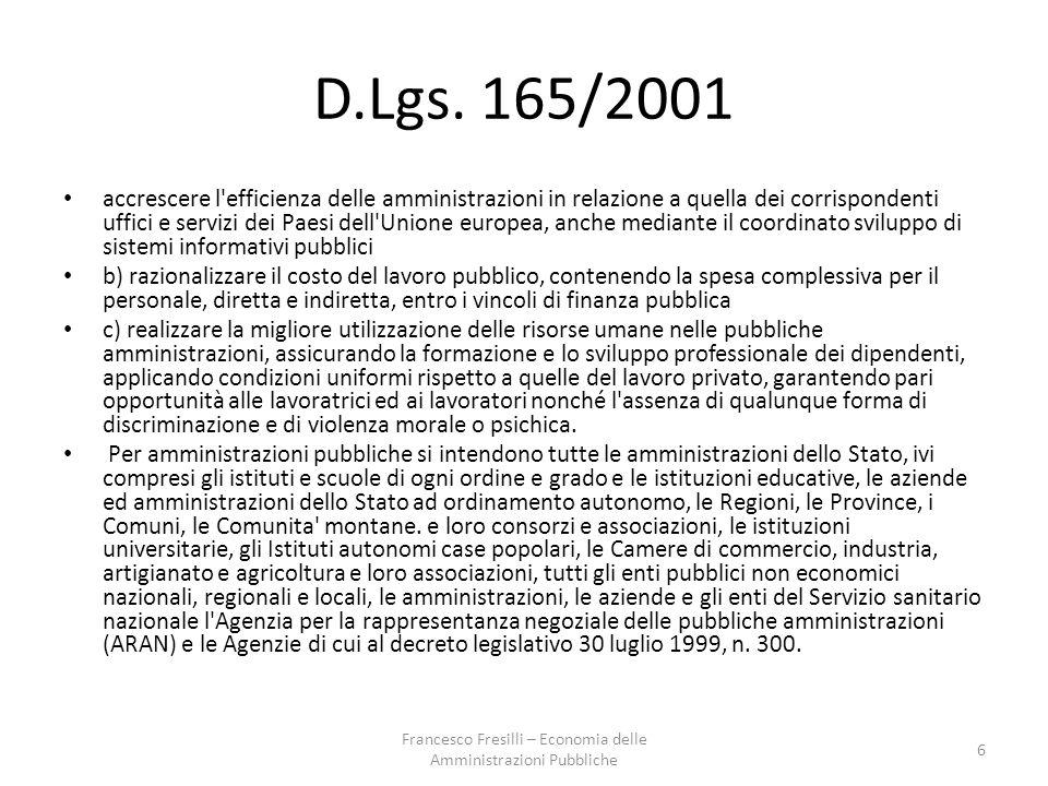 Enti pubblici economici in Italia (in ordine di costituzione) Ina (1912) Imi (1931) Iri (1933) Eni (1953) Efim (1962) Enel (1962) Ferrovie dello Stato (1985) 47 Francesco Fresilli – Economia delle Amministrazioni Pubbliche